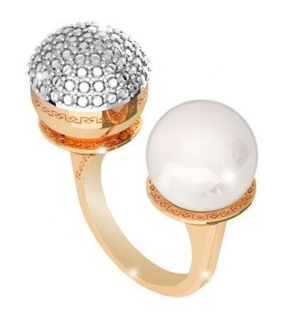 حلقه زن جواهرات Rebecca هالیوود مروارید BHOAOO12