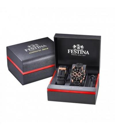 Festina အားကစား F20354 / 1 Chrono ဆိုင်ကယ်လက်ပတ်နာရီ