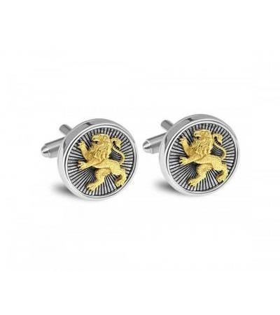 14k Gold and 925 Silver Lion of Judah Cufflinks