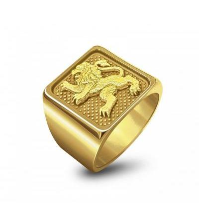 14K Gold Jerusalem Lion Ring