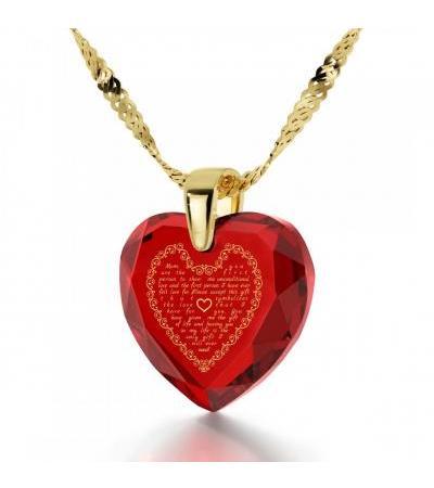 14K Złoty list do mamy z biżuterią Nano z cyrkoniami