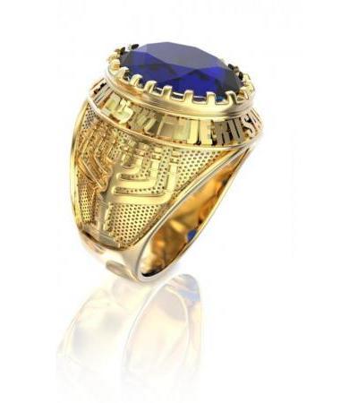 14K یا 18K طلای اورشلیم Ring Menorah