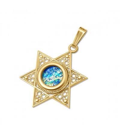 Žuta zlatna filigranska zvijezda