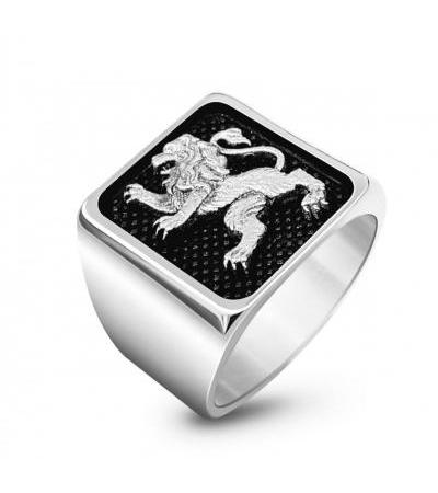 925 Sterling Silver Jerusalem Lion Ring