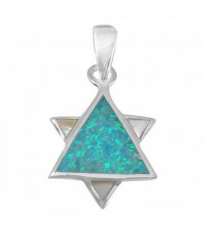 A Star of David Necklace for all Ages, Silver & Opal