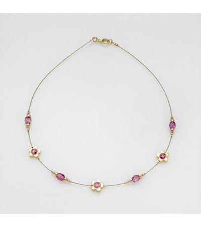 Edita - Kuʻekuʻe Daisy Pink - Pendant Necklace