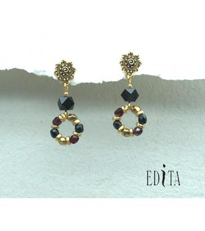 Edita - Royal Treasure - Handcrafted Israeli Earrings