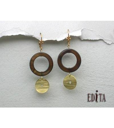 Edita - Shelly - Ręcznie robione izraelskie kolczyki