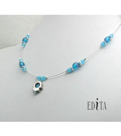 Edita - Turquoise Hamsa - Israel Necklace