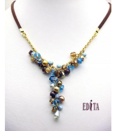 Edita - Twist of Turquoise - Ręcznie wykonany izraelski naszyjnik
