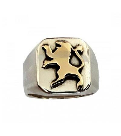 Gold and Silver Lion of Judah Ring