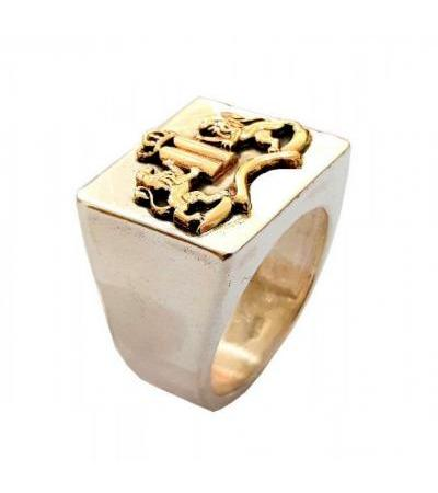 Gold and Silver Ten Commandments Ring