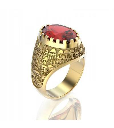 Gold Jerusalem Ring
