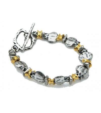Grenades en or et en argent, bracelet israélien