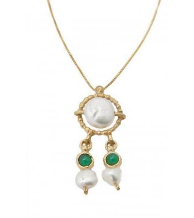 گردنبند نقره ای طلای ملکه هلن، طلا و جواهر اسرائیل