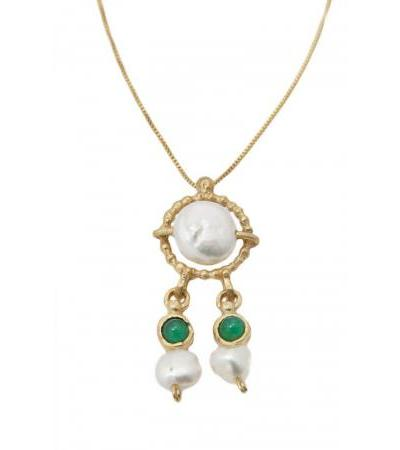 Kraljica Helene pozlaćena srebrna ogrlica, izraelski nakit