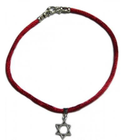 Red String Bracelet with Star of David Pendant