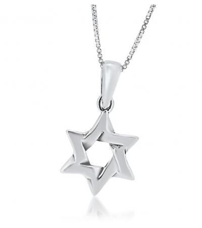 ဒါဝိဒ်သည်လည်ဆွဲ Interlock ဒီဇိုင်း Silver Star