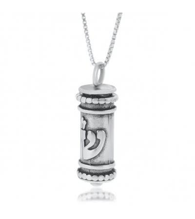 Sterling Silver Classic Mezuzah Necklace
