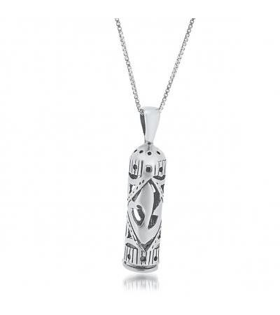 Sterling Silver Mezuzah Pipi