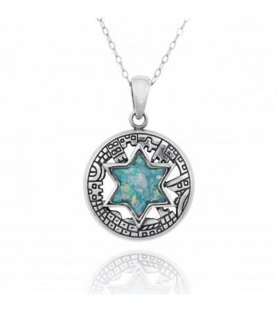耶路撒冷之墙大卫之星项链